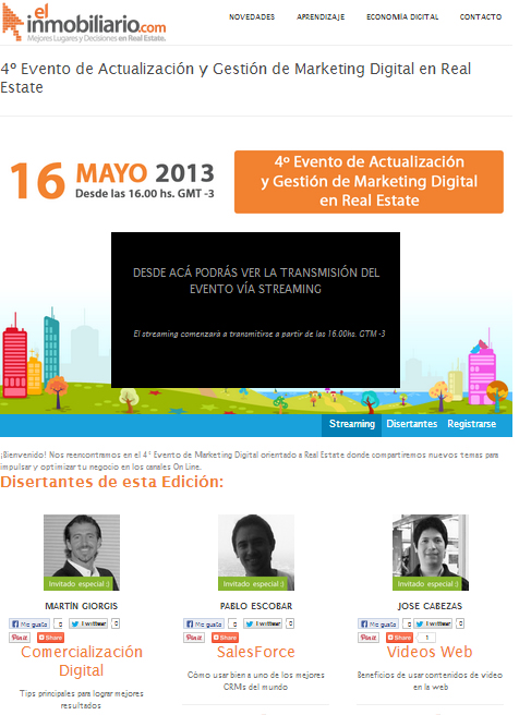 4to evento Marketing Digital en Real Estate
